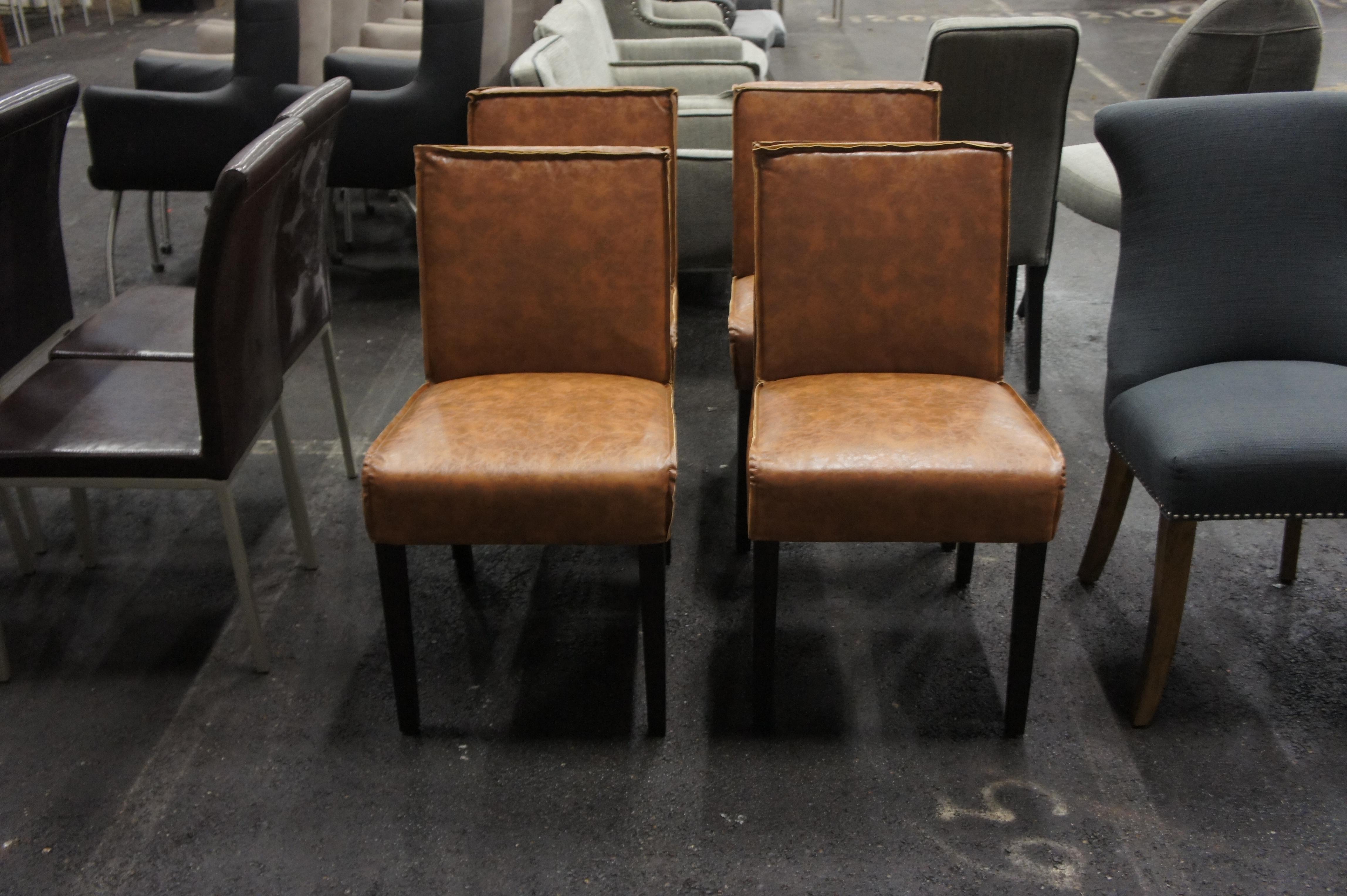 00010 villa stoel in bruin full grain leer meerde stoelen beschikbaar