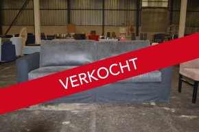 00704 Cobra Sofa in combinatie wol en leer. Winkelwaarde is € 1.990,-